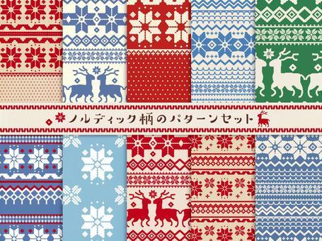 北歐花紋材料