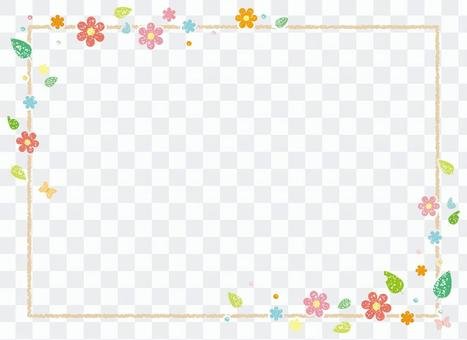 花和葉子框架