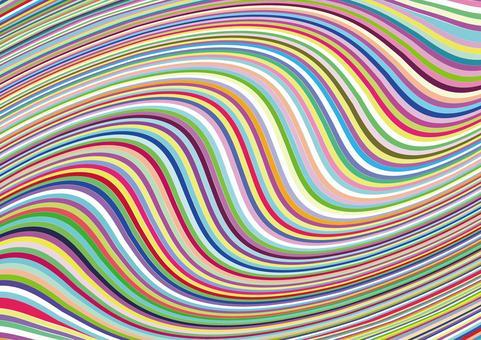 多彩波浪膨脹壁紙