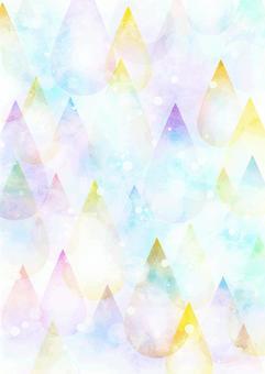 水彩風格多彩滴背景垂直