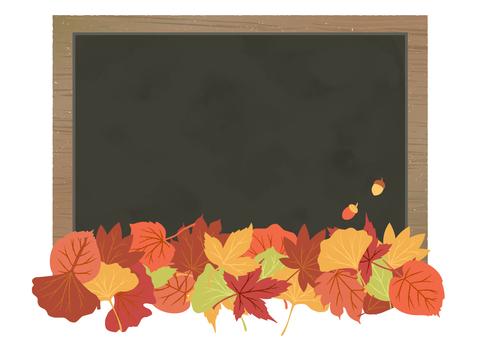 秋葉和黑板背景材料