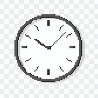 Pixel art wall clock