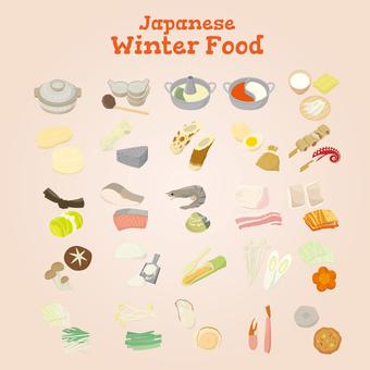 Japanese food in winter