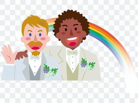 男性同士の結婚-虹4