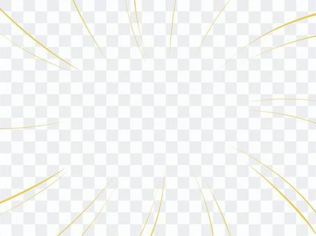 集中線 曲線 黄色