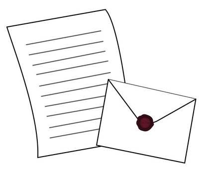 Simple letter set