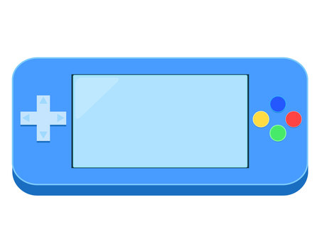 Illustration of handheld game console