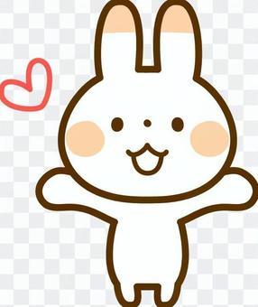 一隻兔子欣喜