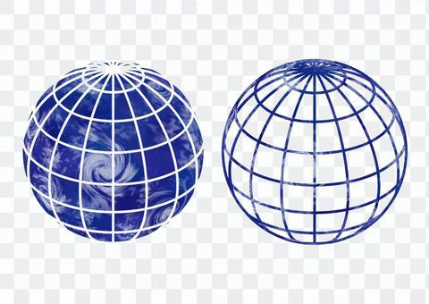 地球儀セット サテライト