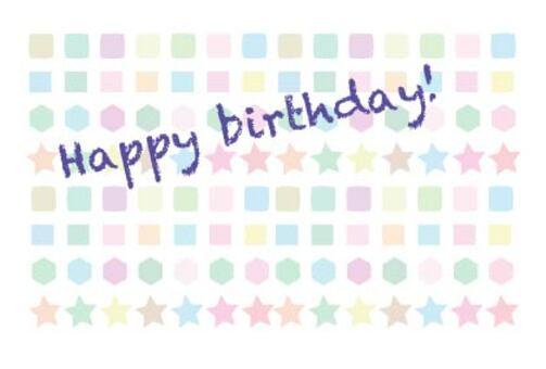 Simple birthday happy birthday card