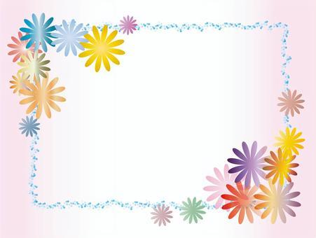 花卉圖案的框架