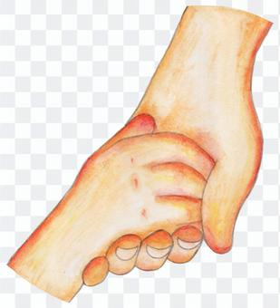 Hand connected (parent and child)
