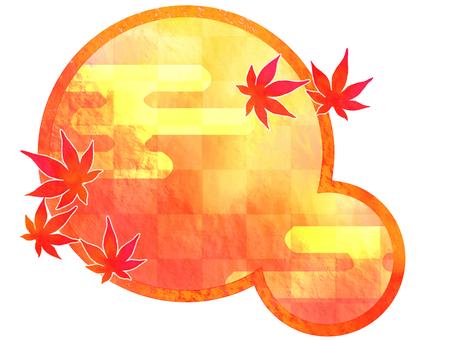 가을 수채화 원 포인트