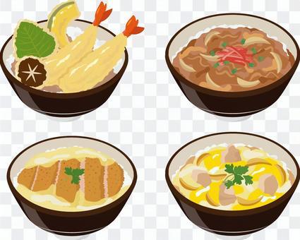 丼物4種セット