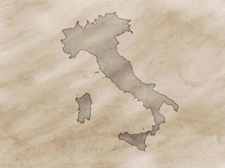 意大利地圖舊地圖樣式