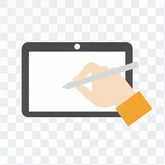 手 - 手寫板操作