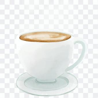 咖啡廳的拿鐵咖啡