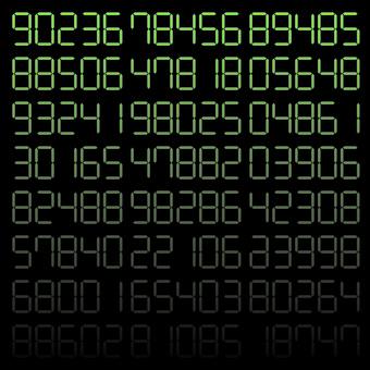 數字數字隨機漸變