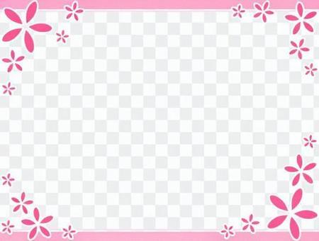 Flower simple frame 4