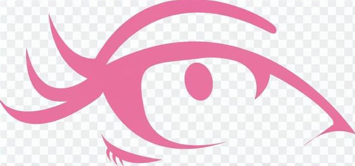 免費插畫眼妝一個完美的女人的眼睛