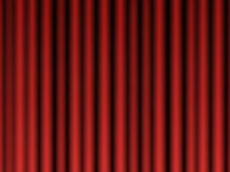 封閉式紅色舞台幕布4:3