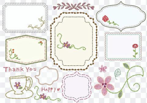 Embroidered frame