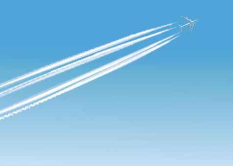 Airplane cloud - jumbo jet