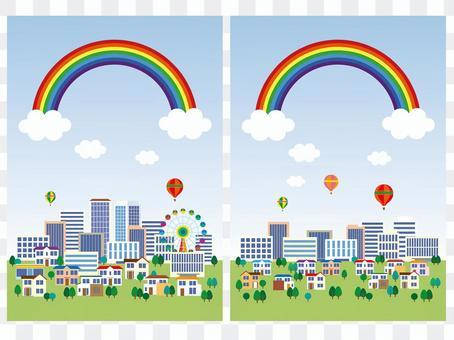 Rainbow / street illustration