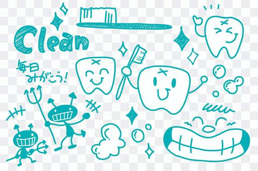 【Handwritten illustration】 Dentist