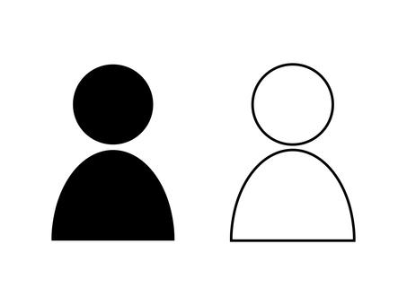 Simple person icon set A: black