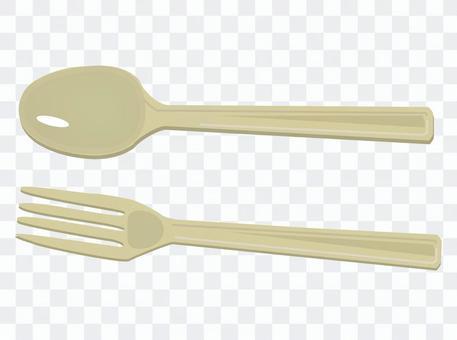 可能在便利店獲得的勺子和叉子