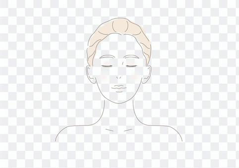 Women's skin front skin care makeup