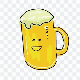 中盃啤酒的插圖
