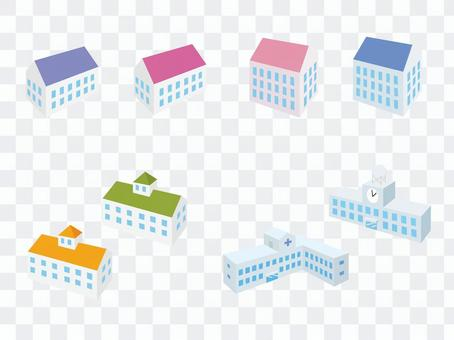 Building (apartment, school, hospital)