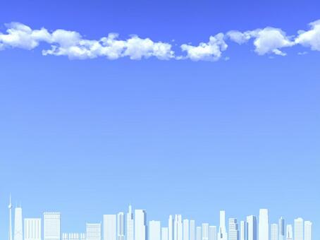 Blue sky and skyscraper _ 001