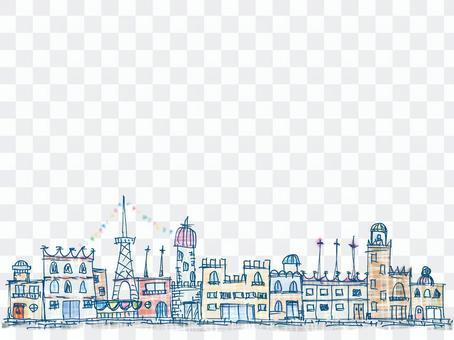 Cityscape (handwritten)