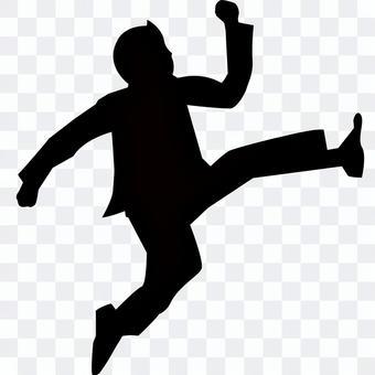 商人跑和跳