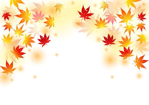 普通版秋葉蓬鬆背景水平