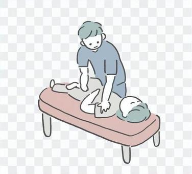 一個人正在接受手法治療的插圖