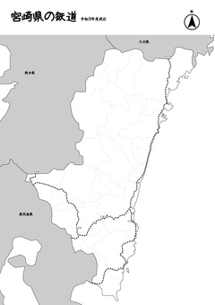 宮崎縣鐵道日本地圖黑白