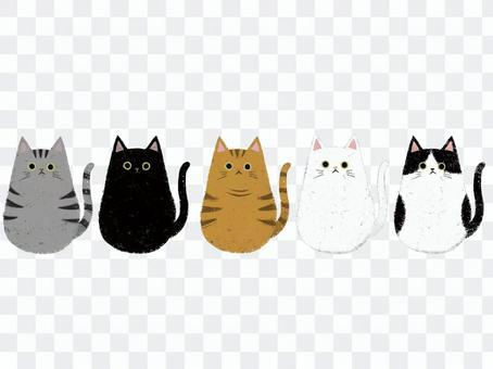 ネコちゃん大集合(背景なし)