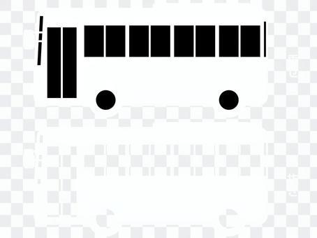 微型巴士剪影(白色)