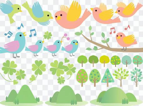 70421,四葉,小鳥,樹4