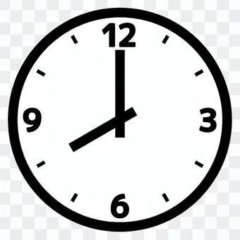 Simple clock 8 o'clock