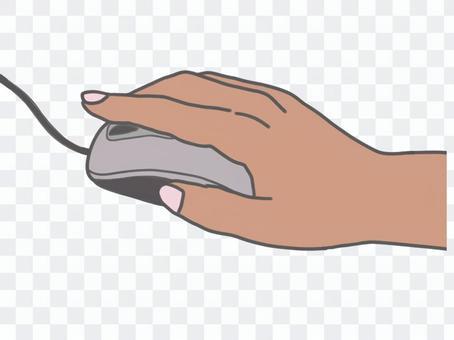 鼠標操作點擊彩色黑手