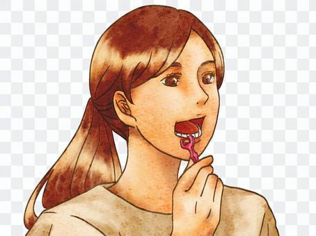 婦女用牙線