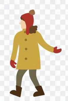 女人伸出一隻手