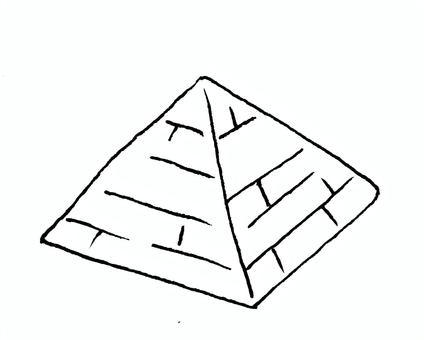金字塔單色