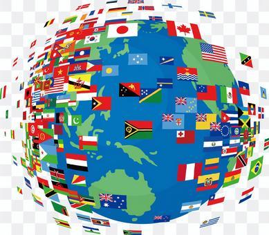 地球國旗全球世界