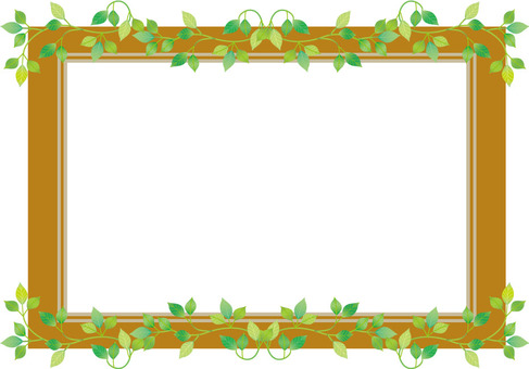 Frame frame of leaf tree